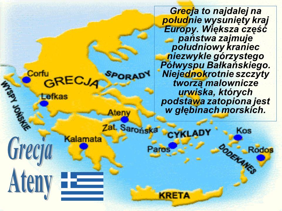 Grecja to najdalej na południe wysunięty kraj Europy