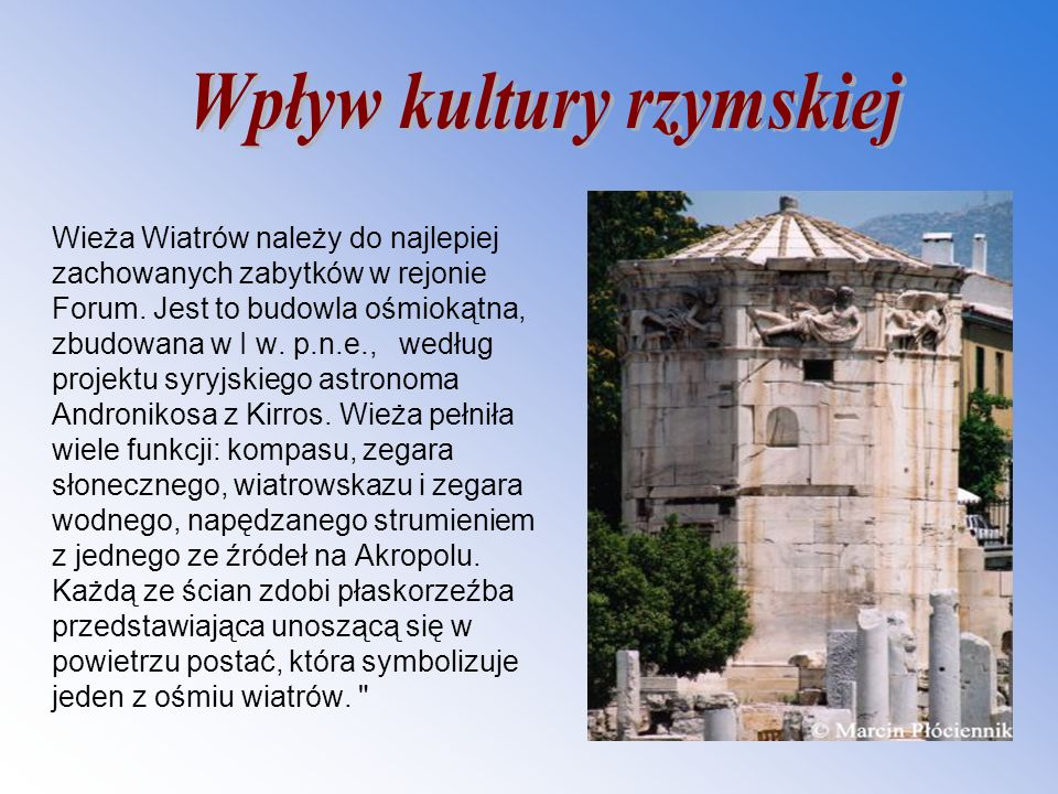 Wpływ kultury rzymskiej