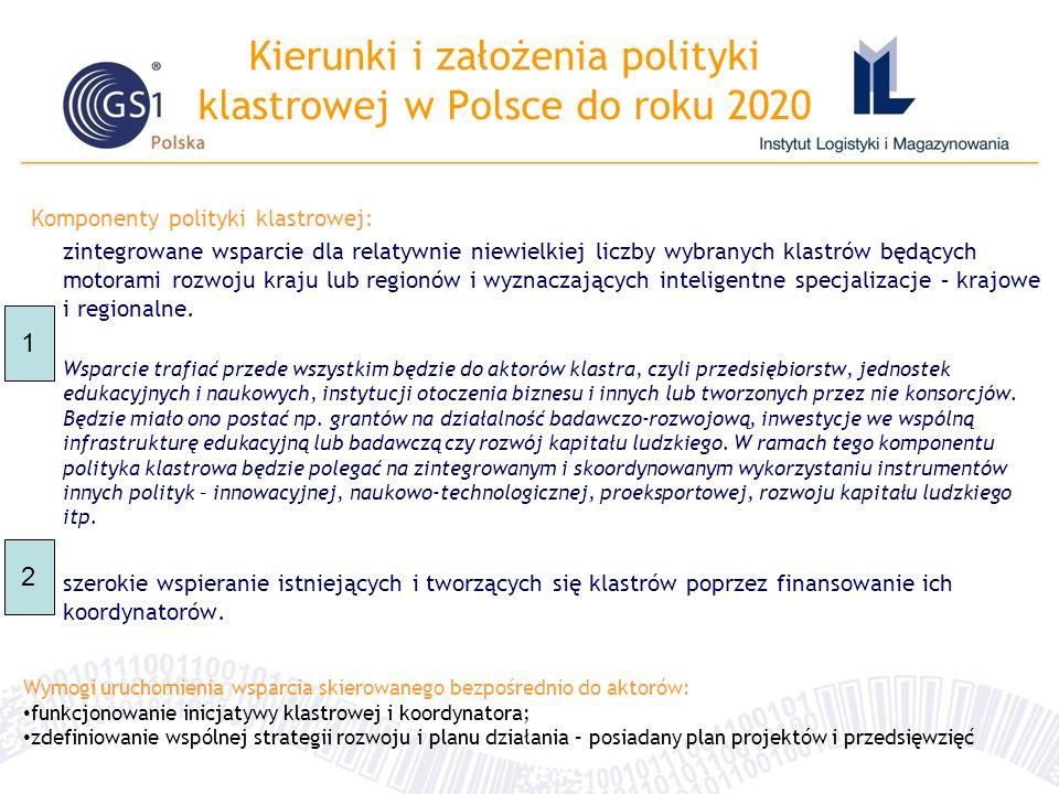 Kierunki i założenia polityki klastrowej w Polsce do roku 2020