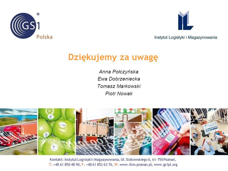 Dziękujemy za uwagę Anna Połczyńska Ewa Dobrzeniecka Tomasz Markowski