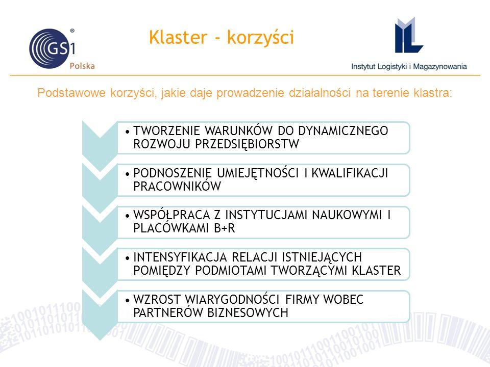 Klaster - korzyści Podstawowe korzyści, jakie daje prowadzenie działalności na terenie klastra: