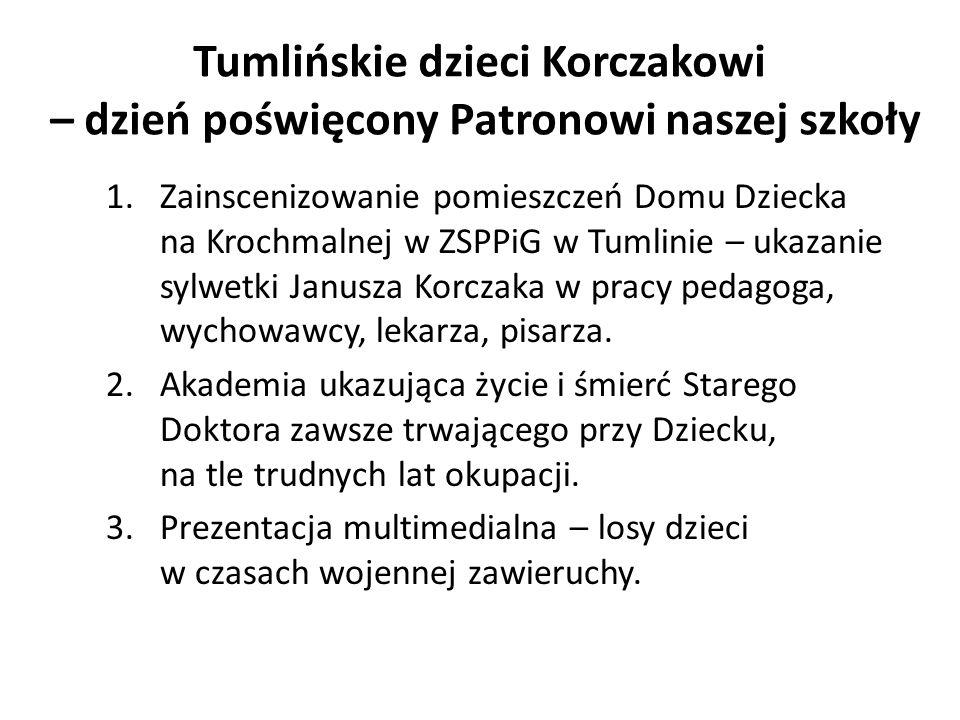 Tumlińskie dzieci Korczakowi – dzień poświęcony Patronowi naszej szkoły
