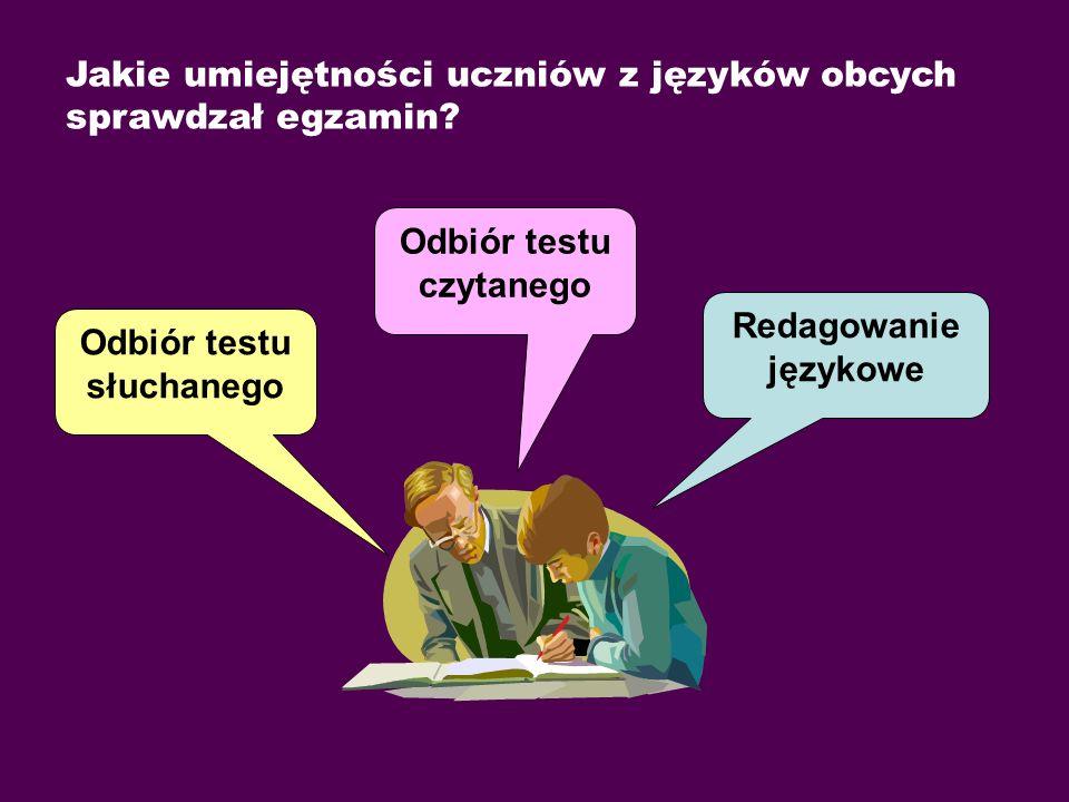 Jakie umiejętności uczniów z języków obcych sprawdzał egzamin