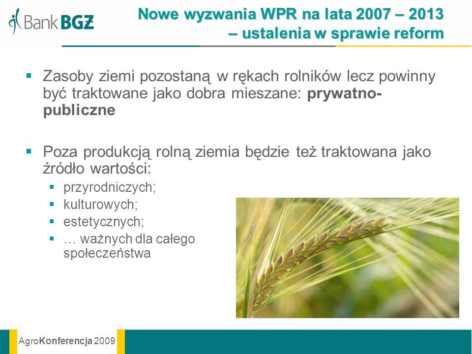 Nowe wyzwania WPR na lata 2007 – 2013 – ustalenia w sprawie reform