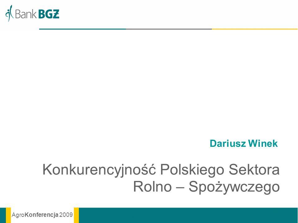 Konkurencyjność Polskiego Sektora Rolno – Spożywczego