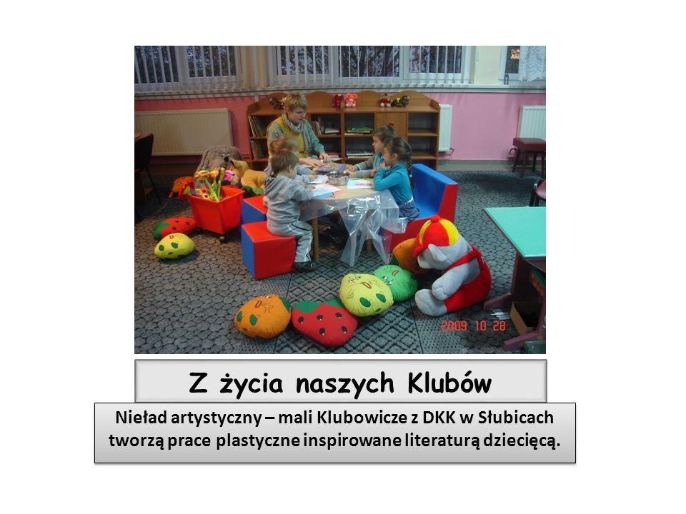 Z życia naszych Klubów Nieład artystyczny – mali Klubowicze z DKK w Słubicach tworzą prace plastyczne inspirowane literaturą dziecięcą.