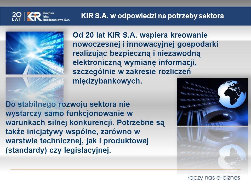 KIR S.A. w odpowiedzi na potrzeby sektora