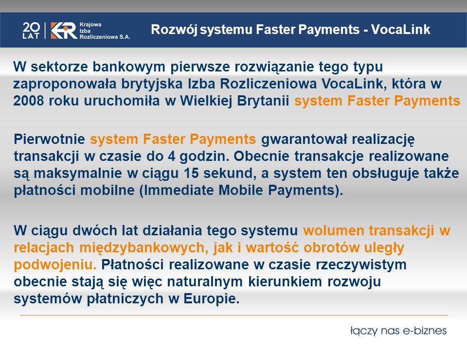 Rozwój systemu Faster Payments - VocaLink