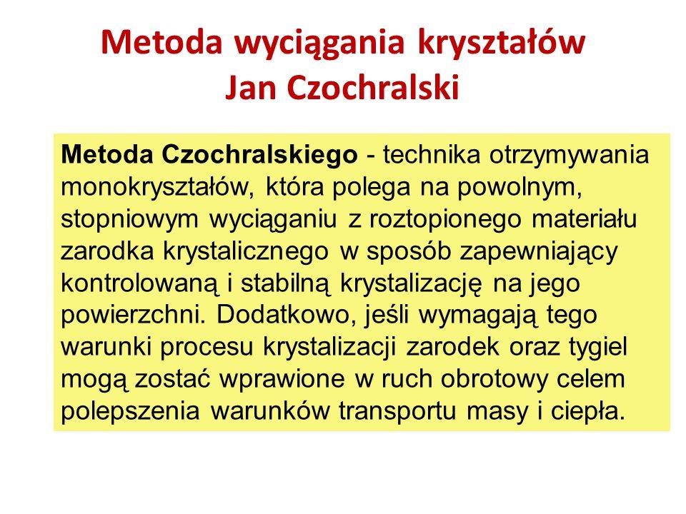 Metoda wyciągania kryształów Jan Czochralski