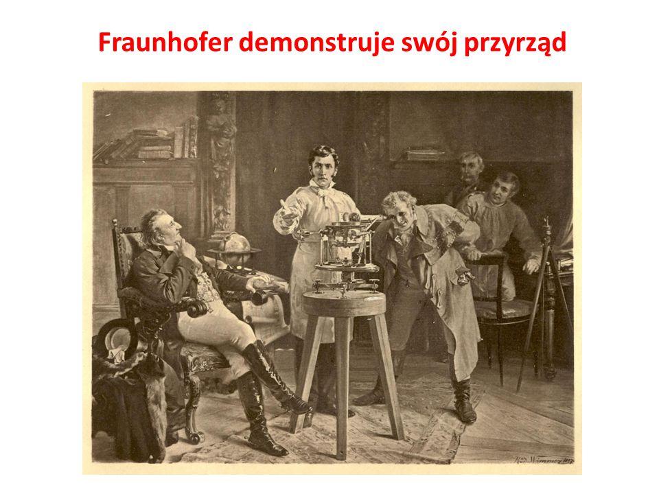 Fraunhofer demonstruje swój przyrząd