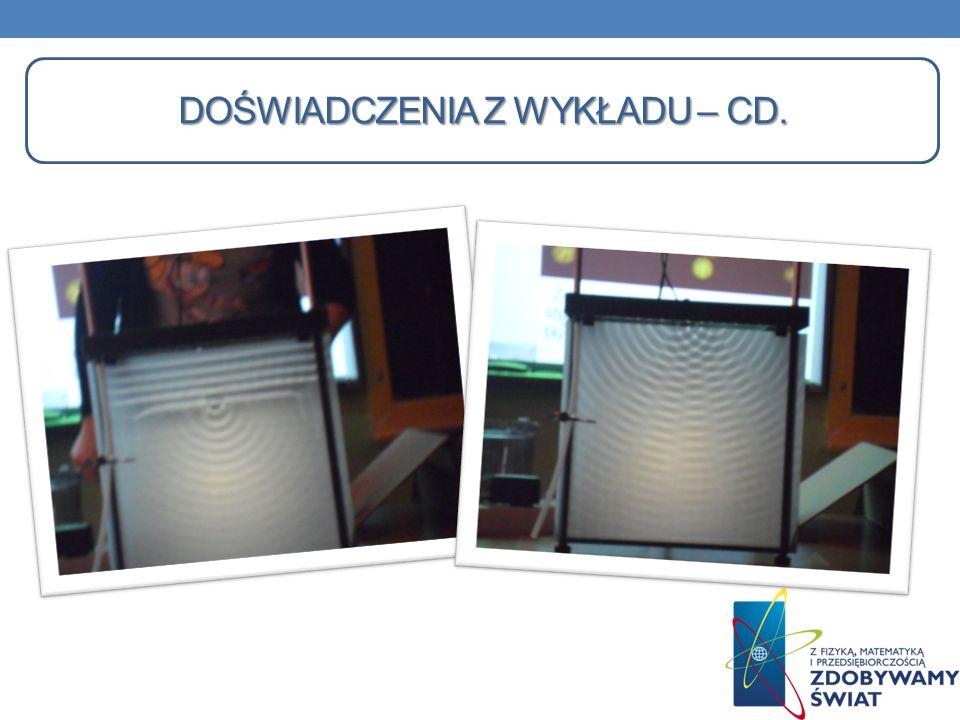 Doświadczenia z wykładu – cd.