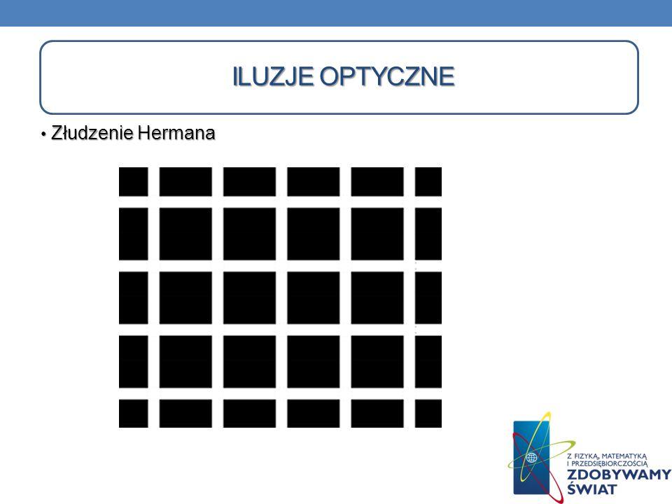 Iluzje optyczne Złudzenie Hermana