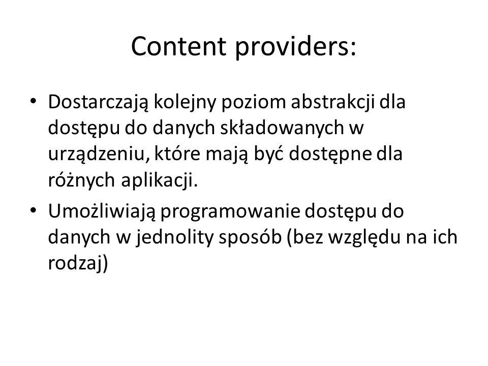Content providers: