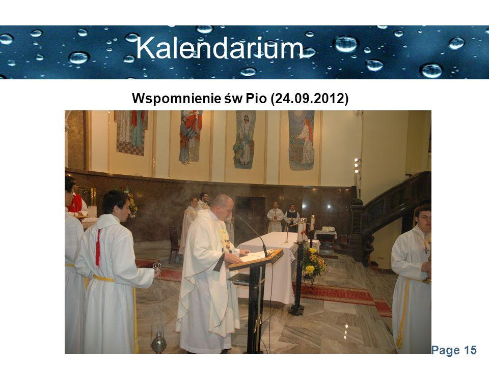 Kalendarium Wspomnienie św Pio (24.09.2012)