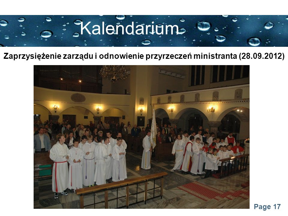Kalendarium Zaprzysiężenie zarządu i odnowienie przyrzeczeń ministranta (28.09.2012)