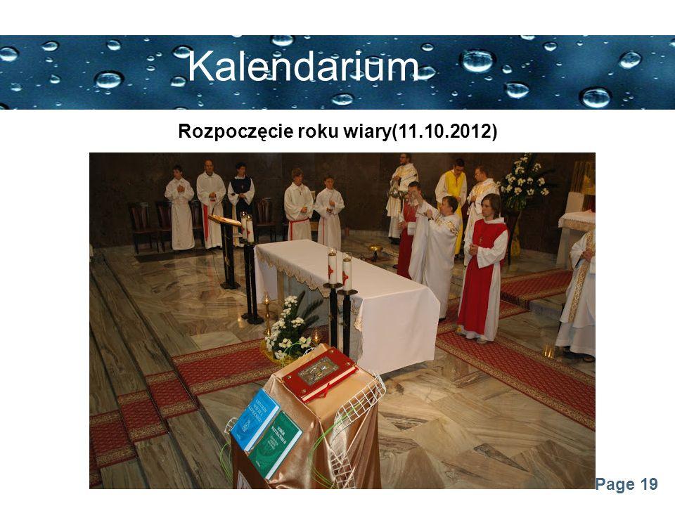 Rozpoczęcie roku wiary(11.10.2012)