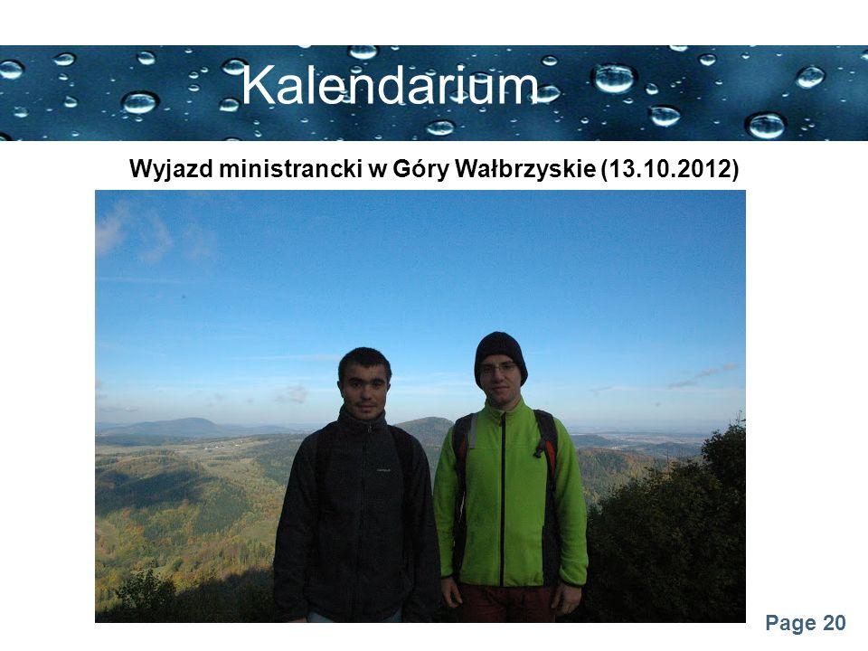 Wyjazd ministrancki w Góry Wałbrzyskie (13.10.2012)