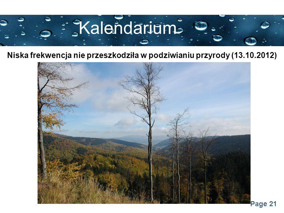 Niska frekwencja nie przeszkodziła w podziwianiu przyrody (13.10.2012)