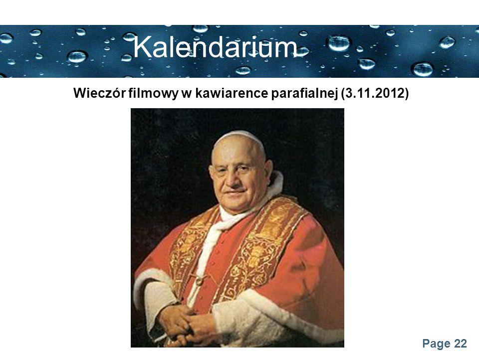 Wieczór filmowy w kawiarence parafialnej (3.11.2012)