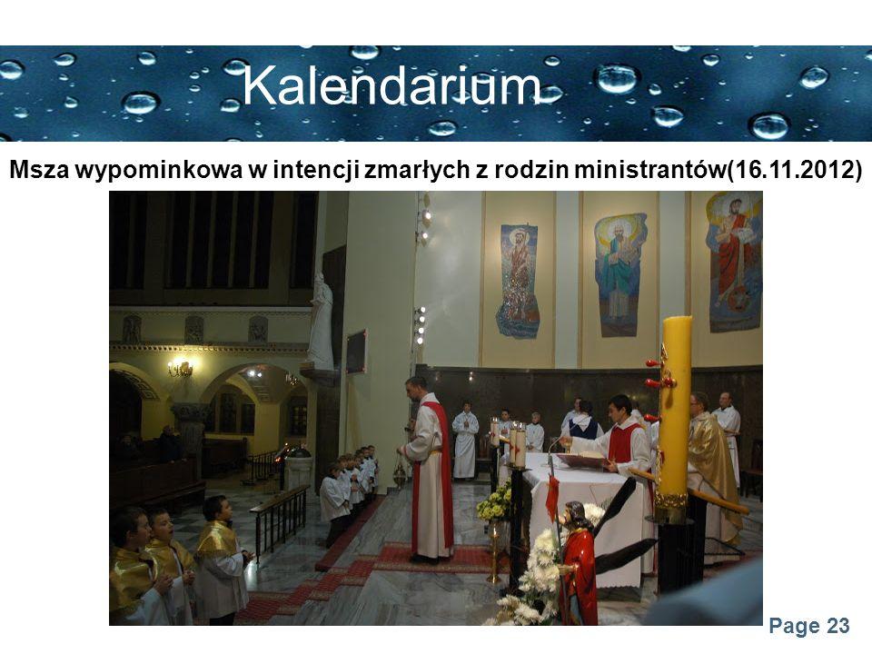 Msza wypominkowa w intencji zmarłych z rodzin ministrantów(16.11.2012)