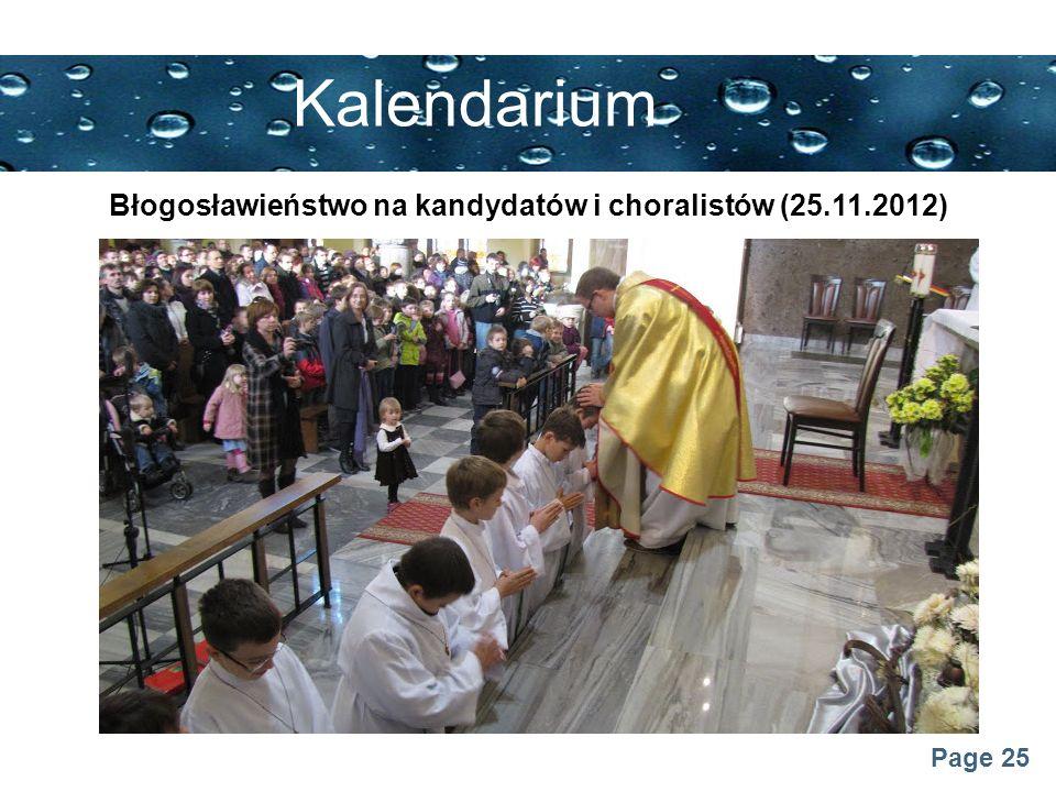 Błogosławieństwo na kandydatów i choralistów (25.11.2012)