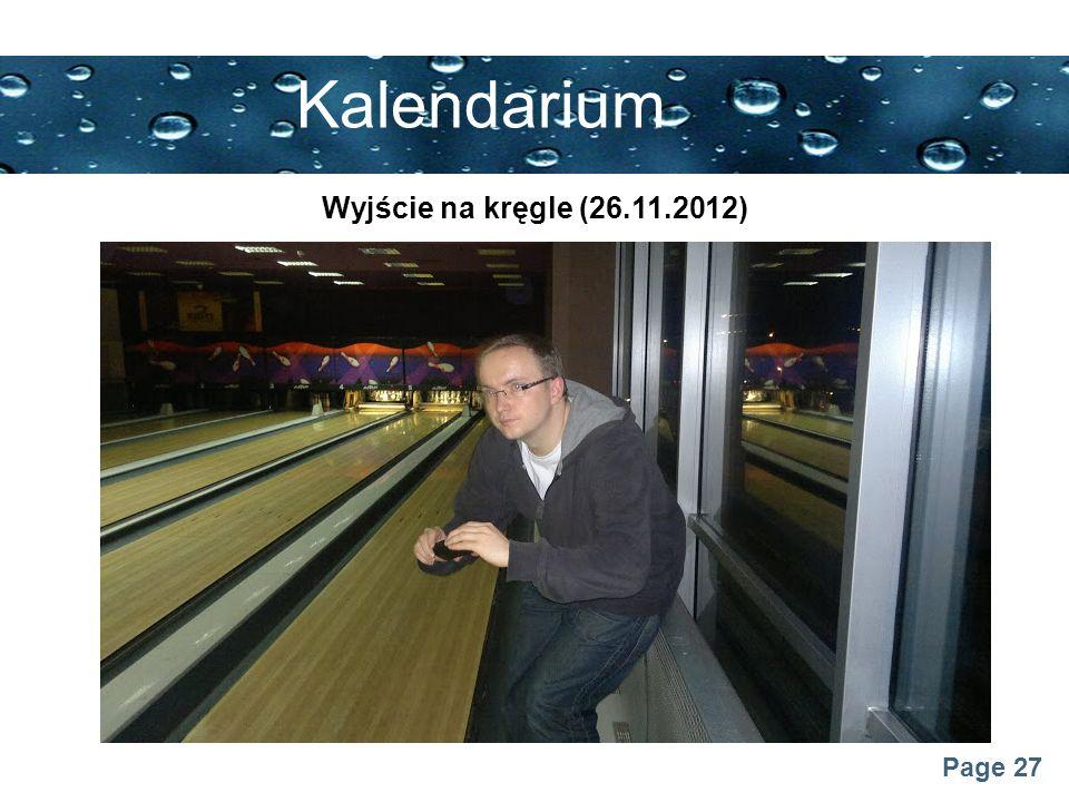 Kalendarium Wyjście na kręgle (26.11.2012)