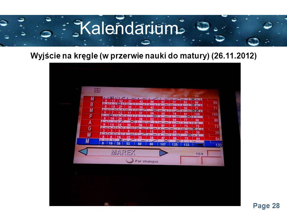 Wyjście na kręgle (w przerwie nauki do matury) (26.11.2012)