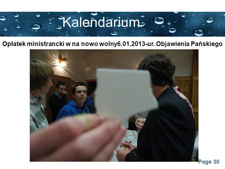 Opłatek ministrancki w na nowo wolny6.01.2013-ur. Objawienia Pańskiego