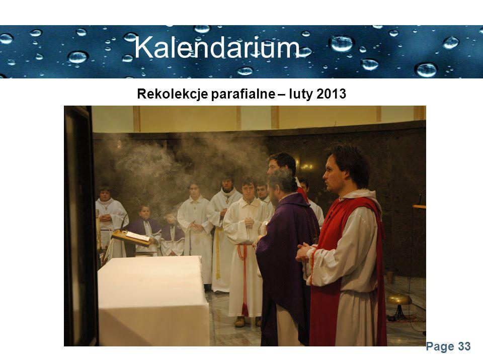 Rekolekcje parafialne – luty 2013