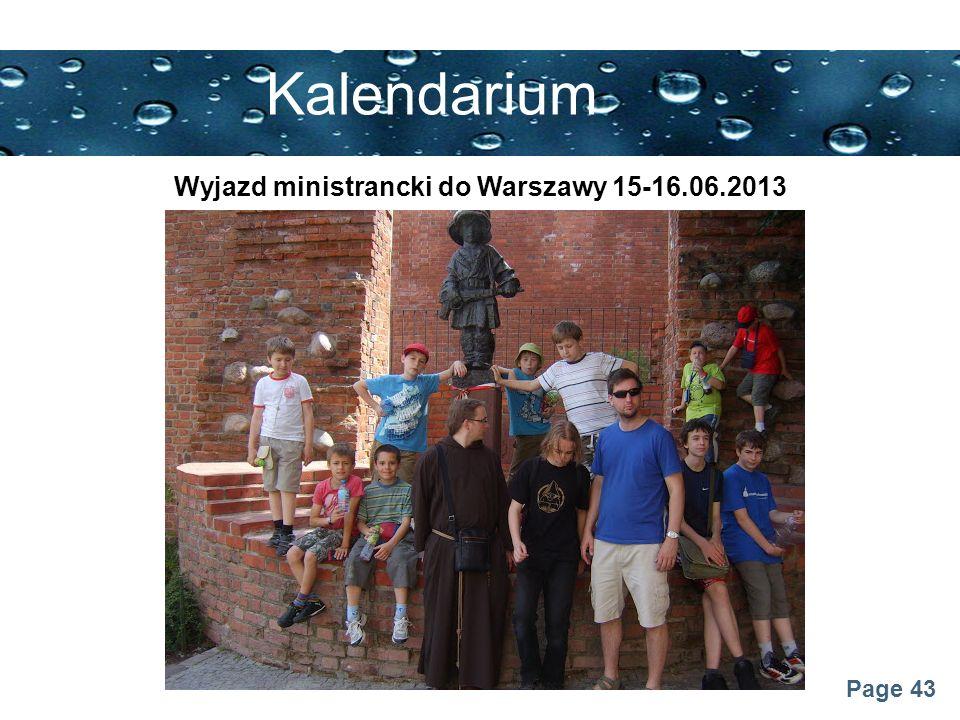 Wyjazd ministrancki do Warszawy 15-16.06.2013