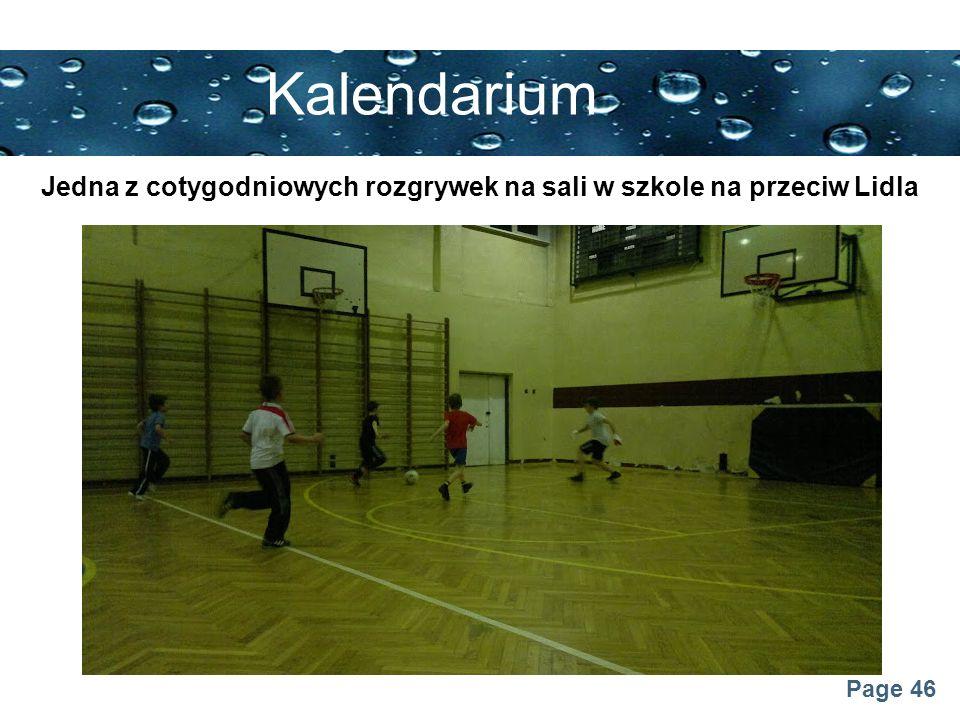 Jedna z cotygodniowych rozgrywek na sali w szkole na przeciw Lidla