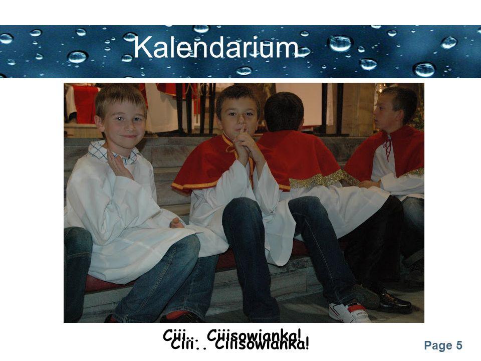 Kalendarium Ciii.. Ciiisowianka! Ciii.. Ciiisowianka!