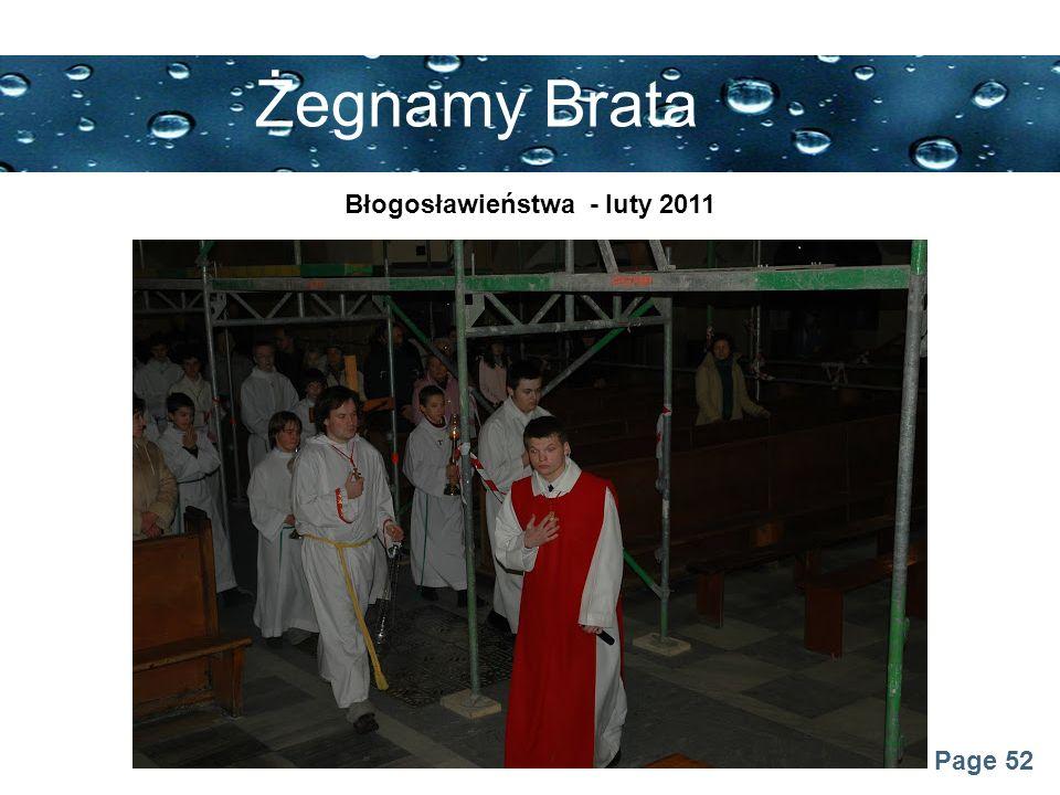 Błogosławieństwa - luty 2011