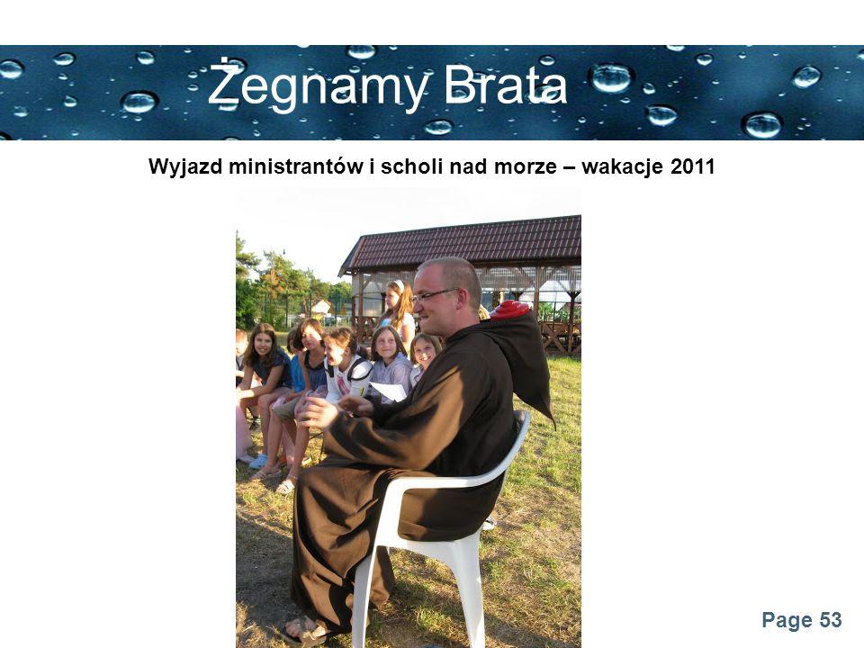 Wyjazd ministrantów i scholi nad morze – wakacje 2011
