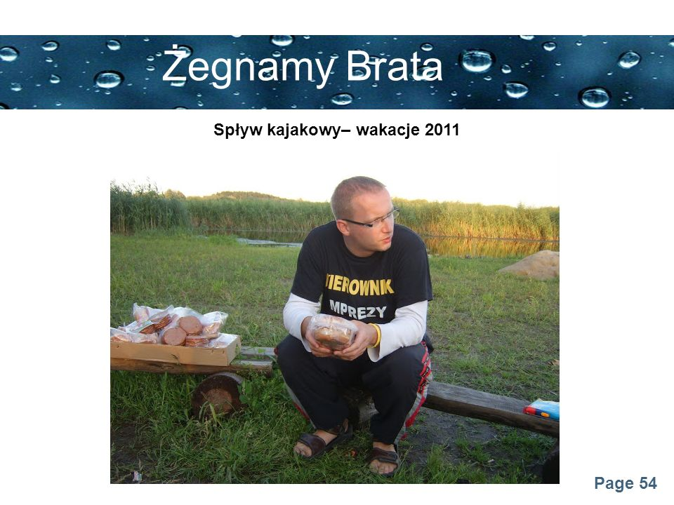 Spływ kajakowy– wakacje 2011