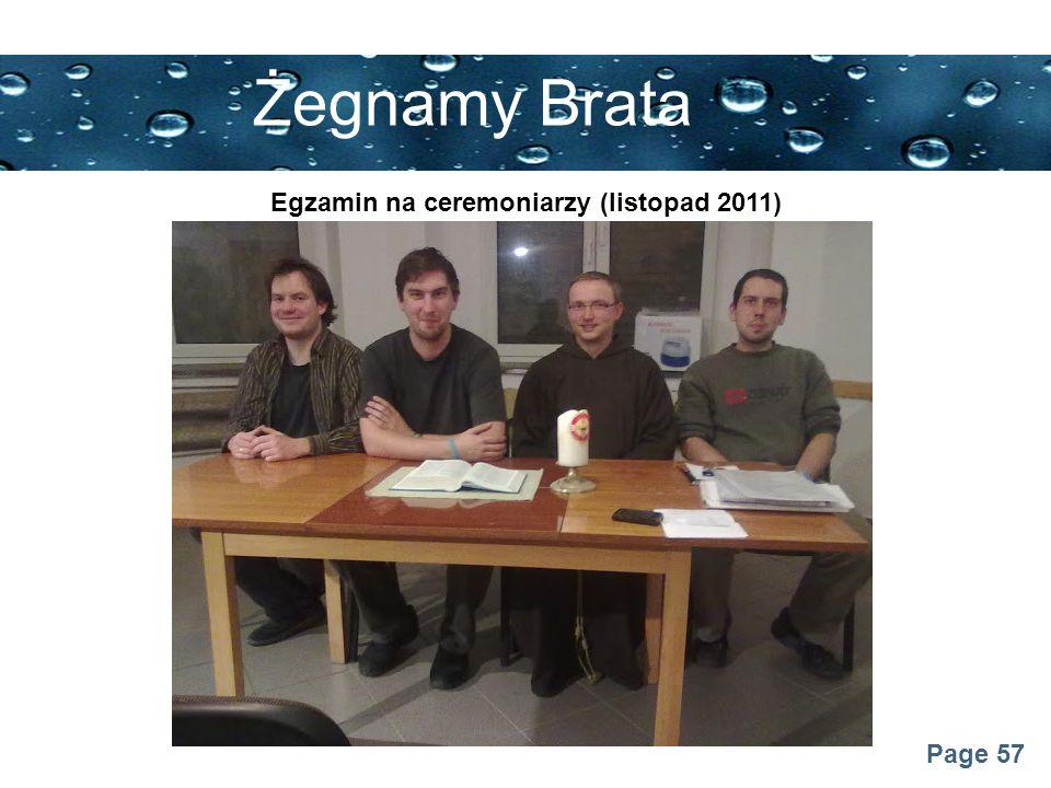 Egzamin na ceremoniarzy (listopad 2011)