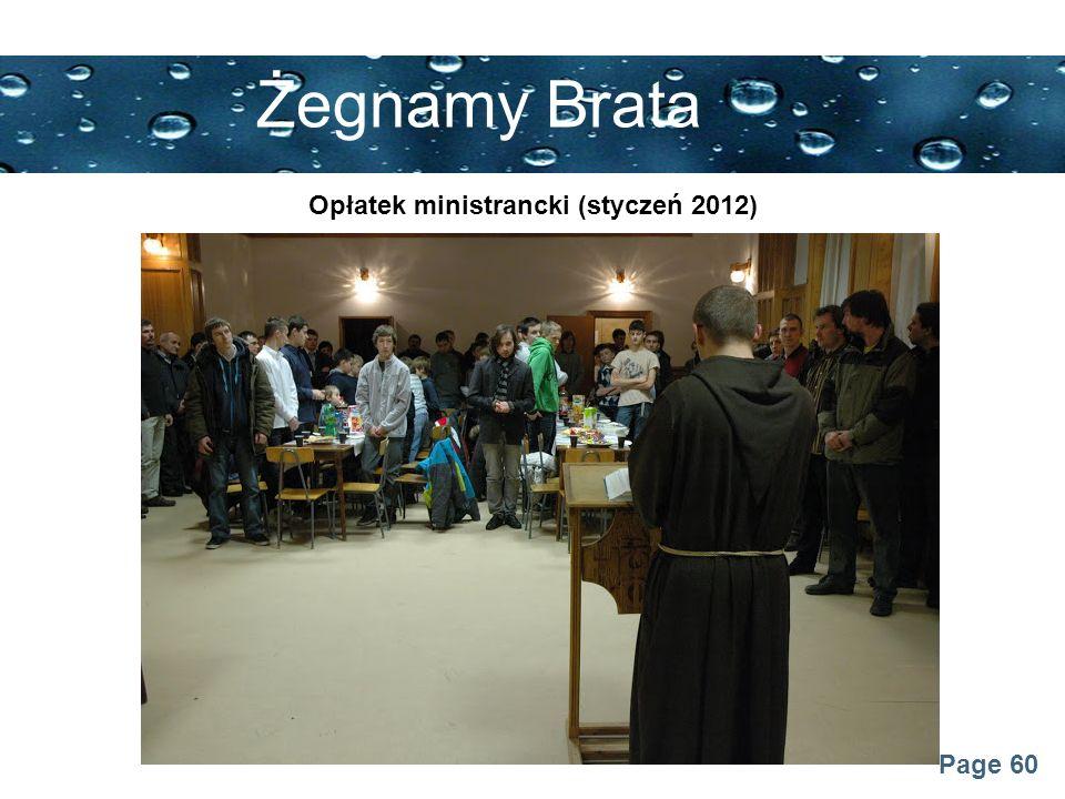 Opłatek ministrancki (styczeń 2012)