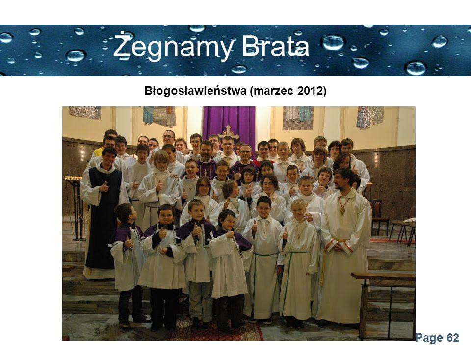 Błogosławieństwa (marzec 2012)