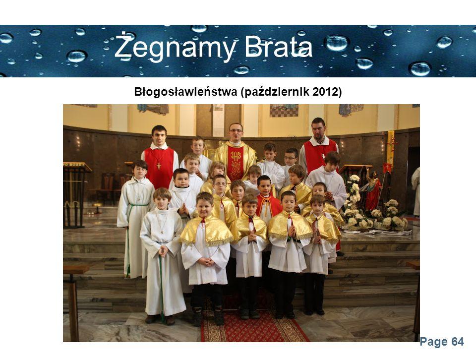 Błogosławieństwa (październik 2012)