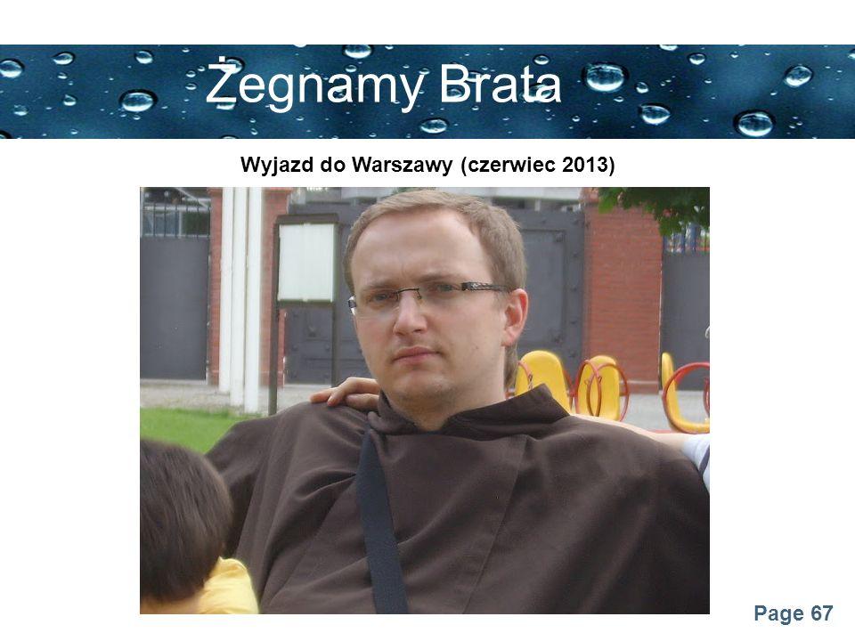 Wyjazd do Warszawy (czerwiec 2013)
