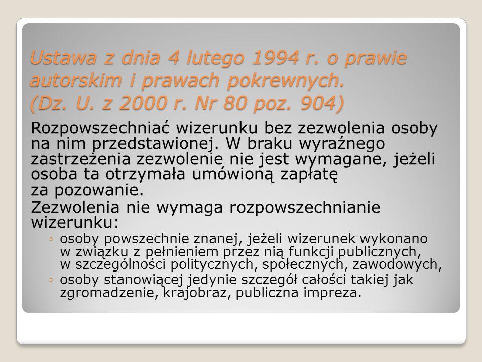 Ustawa z dnia 4 lutego 1994 r. o prawie autorskim i prawach pokrewnych