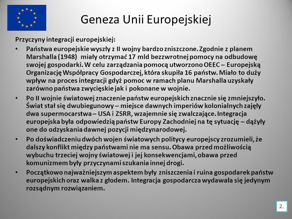 Geneza Unii Europejskiej