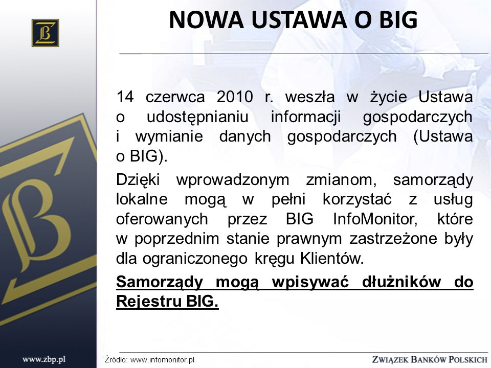 NOWA USTAWA O BIG