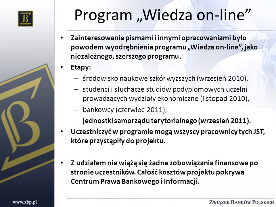 "Program ""Wiedza on-line"