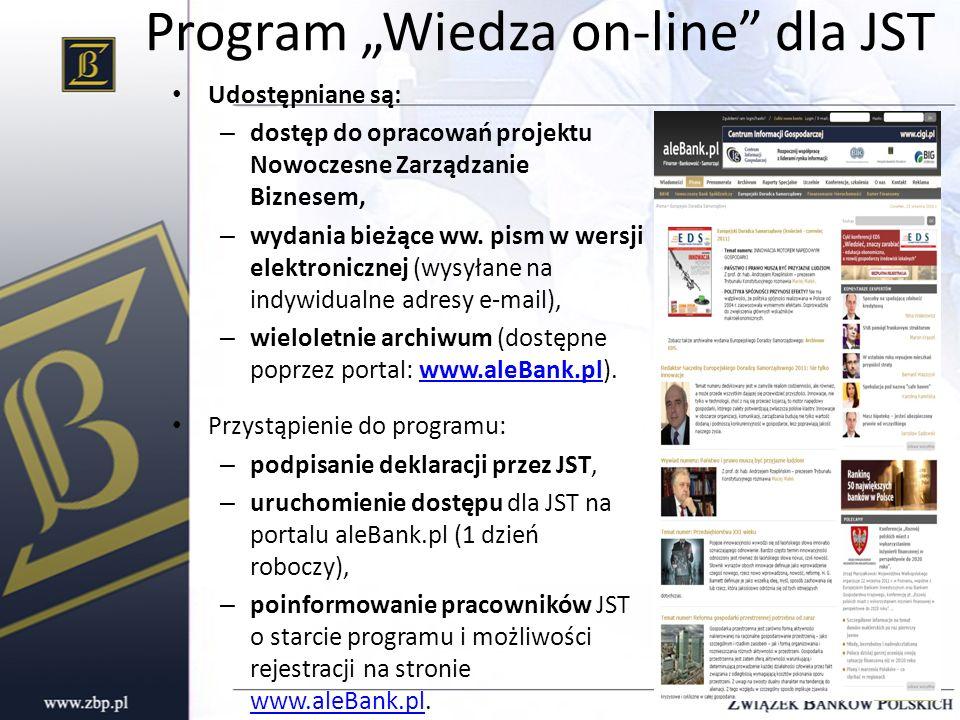 """Program """"Wiedza on-line dla JST"""
