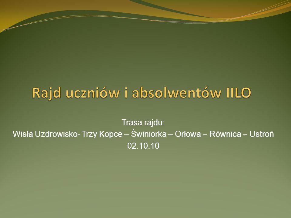 Rajd uczniów i absolwentów IILO