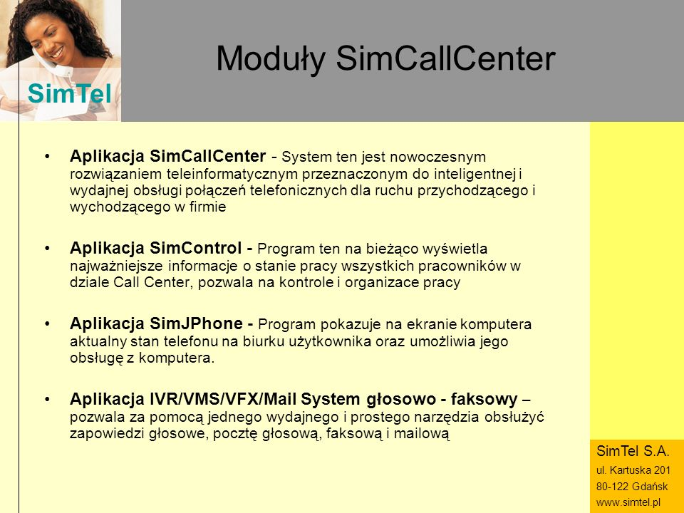 Moduły SimCallCenter