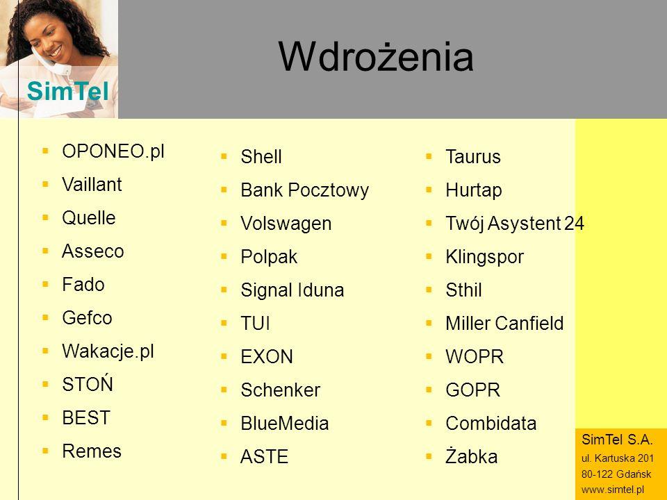Wdrożenia OPONEO.pl Vaillant Quelle Asseco Fado Gefco Wakacje.pl STOŃ