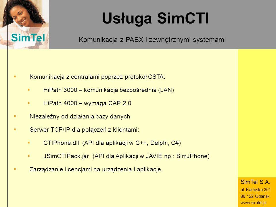 Komunikacja z PABX i zewnętrznymi systemami