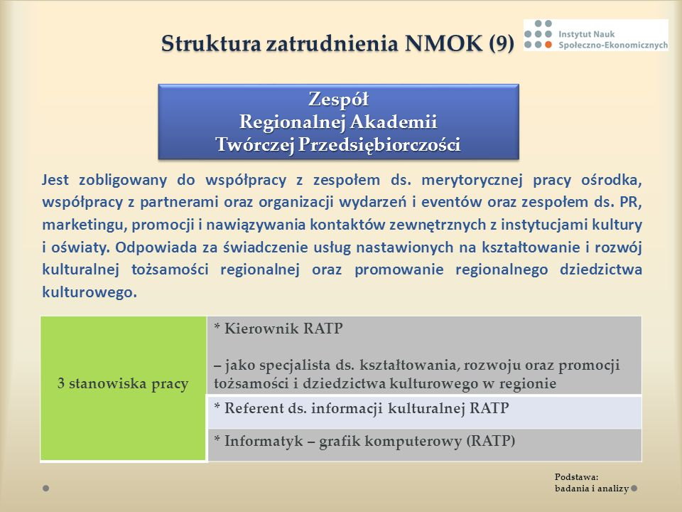 Struktura zatrudnienia NMOK (9)